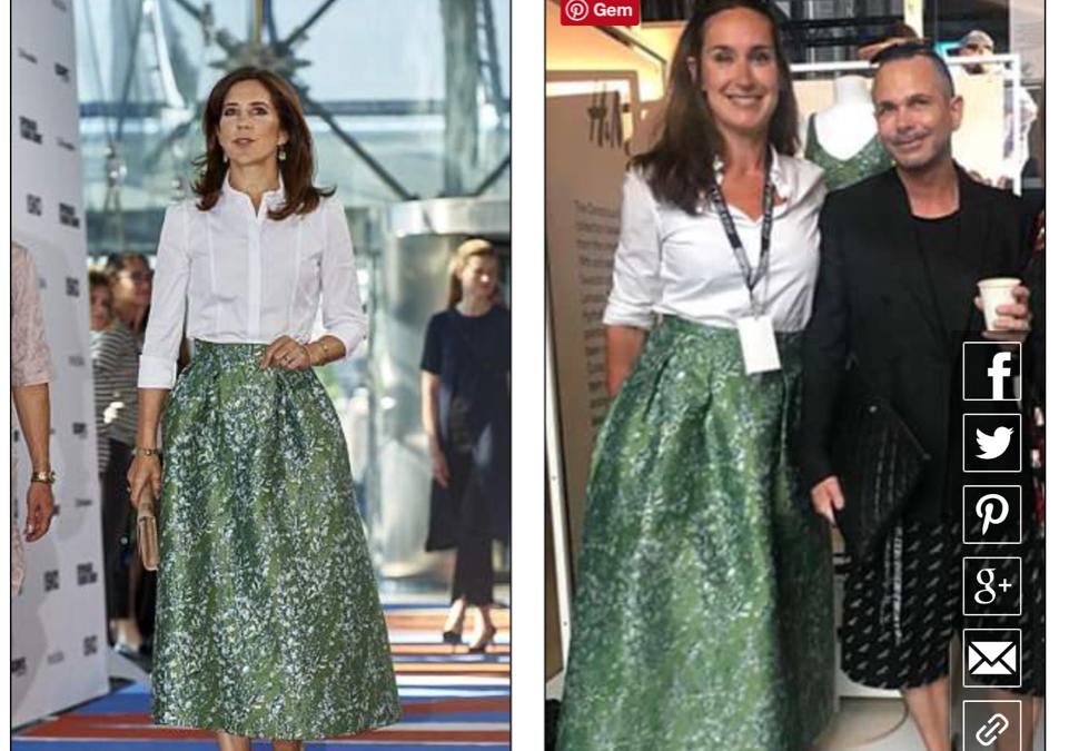 Ja, jeg var iført fuldkommen samme tøj som Kronprinsesse Mary og ja, vi er i Daily Mail